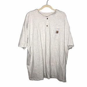Carhartt Men's Grey Pocket T Shirt Size 3x